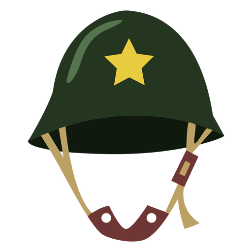 Casco militar con estrella
