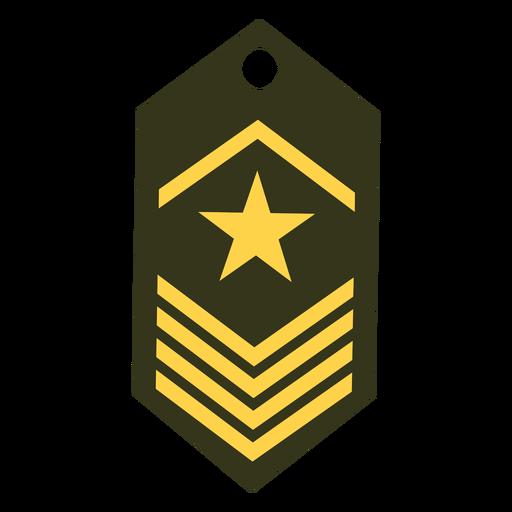 Icono de rango del ejército Transparent PNG