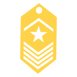 Army rank silhouette