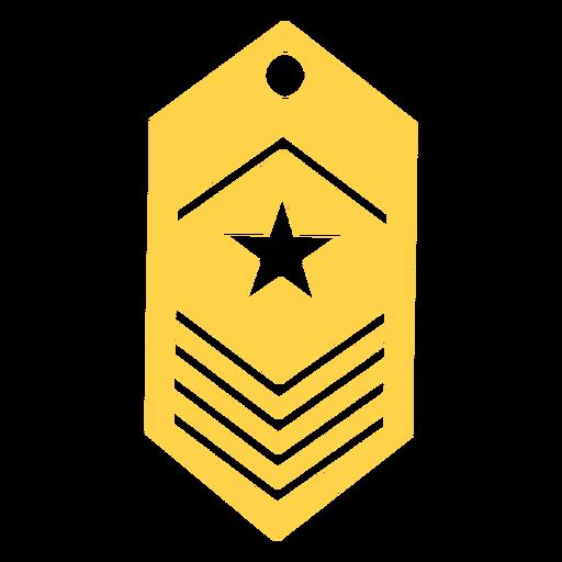 Silueta de rango del ejército Transparent PNG