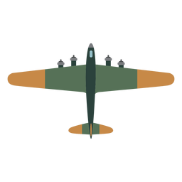 B 17 aircraft top view icon