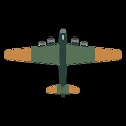 Icono de vista superior del avión B 17