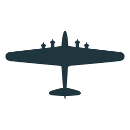 Silhueta de vista superior de aeronaves B 17