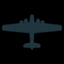 Silueta de vista superior de aviones B 17