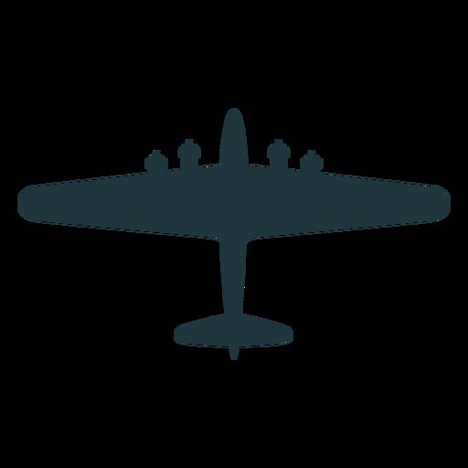 Silueta de vista superior de aviones B 17 Transparent PNG