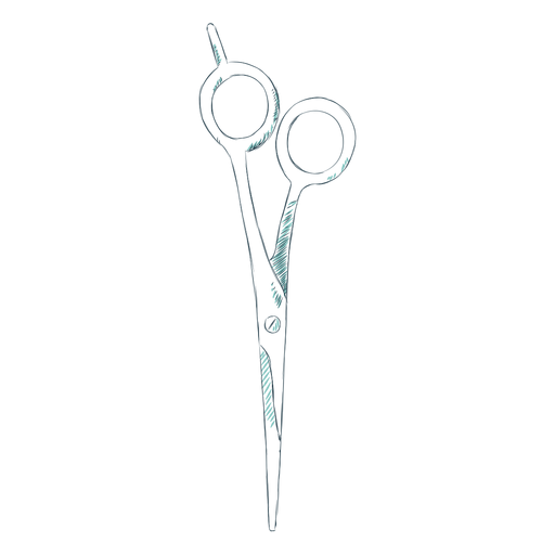 Barber shears hand drawn Transparent PNG