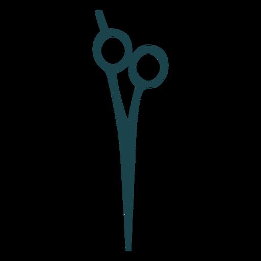 Barber shears silhouette