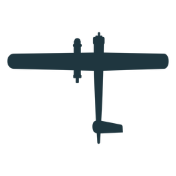 Basic military aircraft silhouette