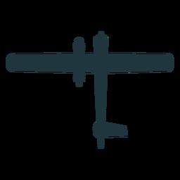 Silueta básica de aviones militares