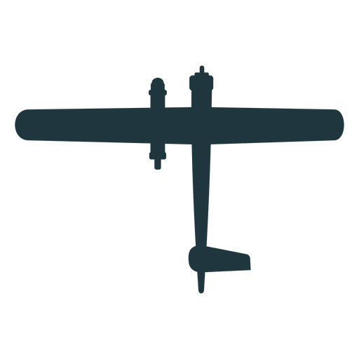 Basic military aircraft silhouette Transparent PNG