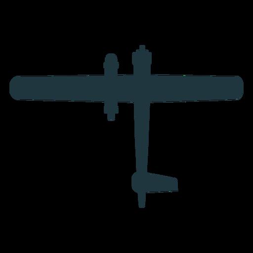 Silueta de avión militar básico