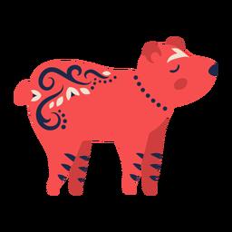 Ornamento de arte folclórica urso