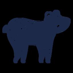 Urso silhueta de ornamento de arte popular