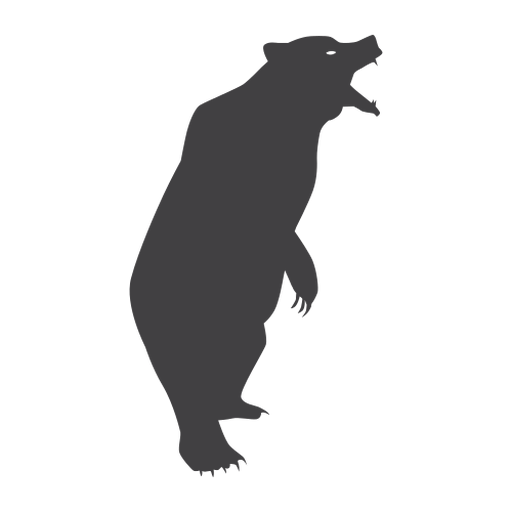 Bear roaring silhouette bear Transparent PNG