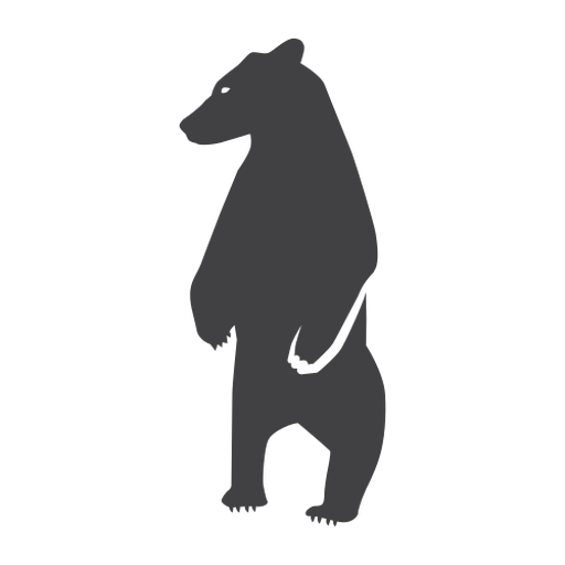 Oso de pie silueta oso
