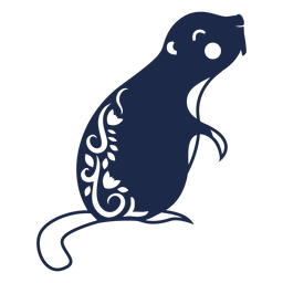 Beaver folk art ornament silhouette