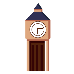 Big ben clock tower icon