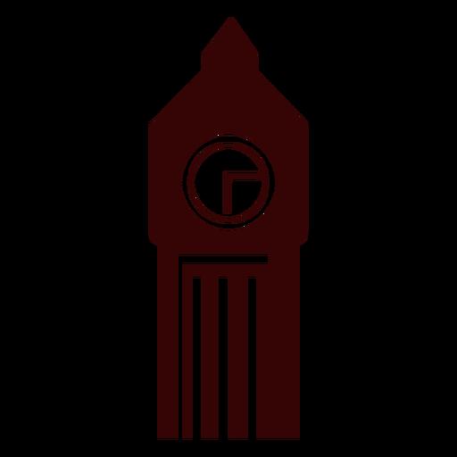 Silueta de la torre del reloj big ben