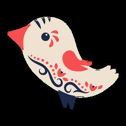 Ornamento de arte popular de pássaro