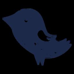 Silhueta de ornamento do pássaro arte popular