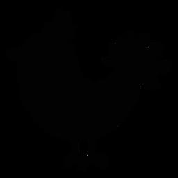 Silhueta de arte popular de pássaro