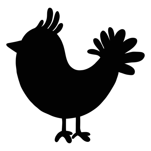 Bird folk art silhouette