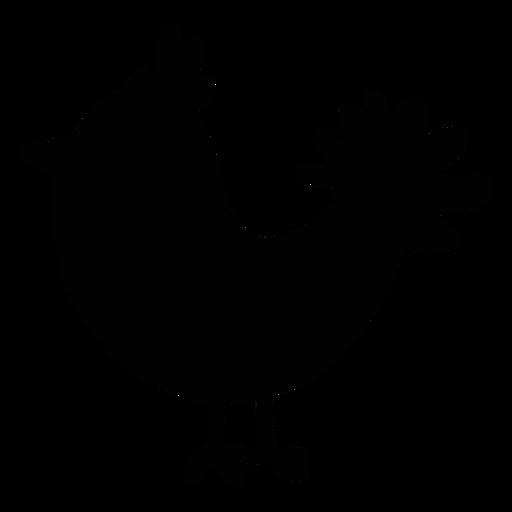 Silueta de arte popular de aves