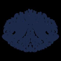 Silhueta floral de pássaros arte popular