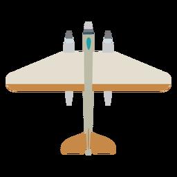 Icono de vista superior de avión bombardero