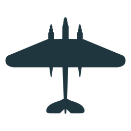 Bomber aircraft top view silhouette military