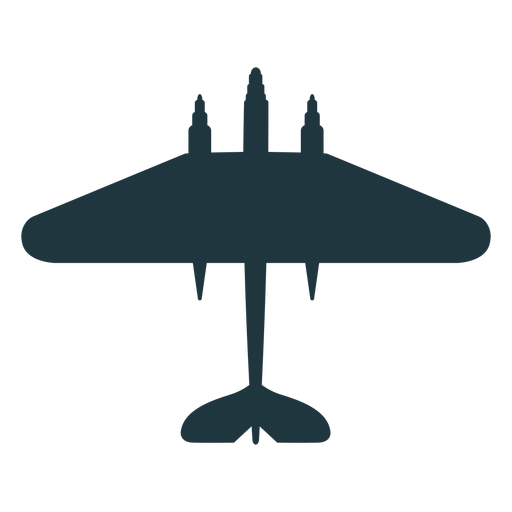 Bomber aircraft top view silhouette military Transparent PNG