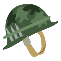 Camouflage army helmet