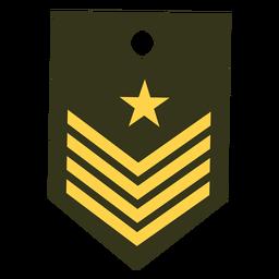 Icono de rango militar de capitán