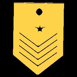 Capitán militar rango silueta
