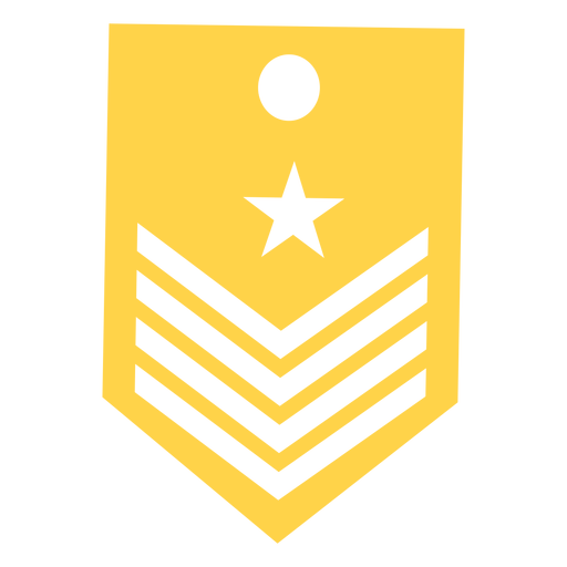 Capitán militar rango silueta Transparent PNG
