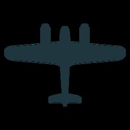 Avión de combate silueta militar