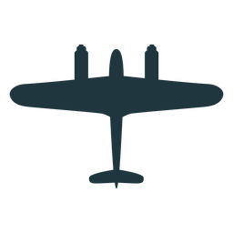 Combat aircraft silhouette military