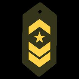 Icono de rango militar de comandante