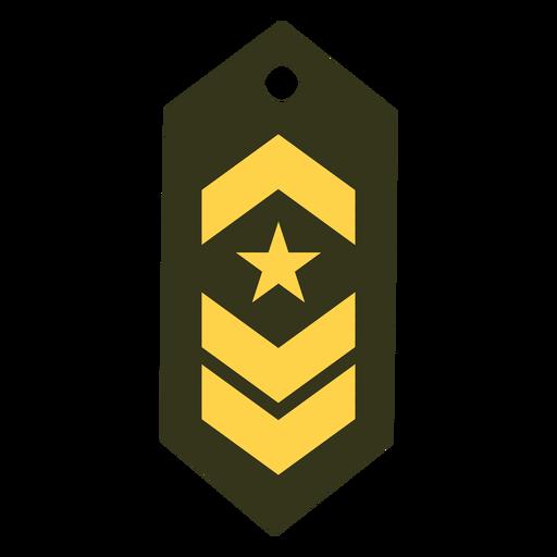 Icono de rango militar comandante Transparent PNG