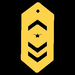 Comandante militar rango silueta