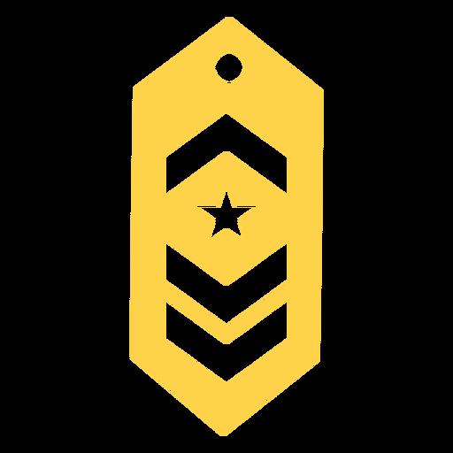 Silueta de rango militar de comandante Transparent PNG