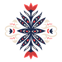 Decorative floral folk style element