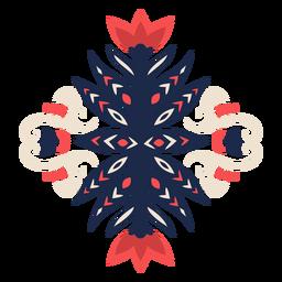 Elemento decorativo floral estilo folk