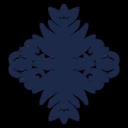 Silhueta de padrão decorativo floral folk