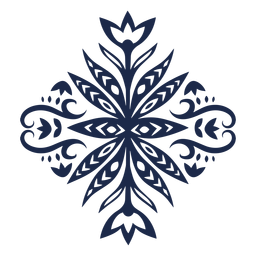Silueta decorativa floral patrón popular
