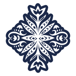 Etiqueta decorativa floral patrón popular