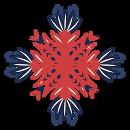 Elemento decorativo de padrão folclórico de flores