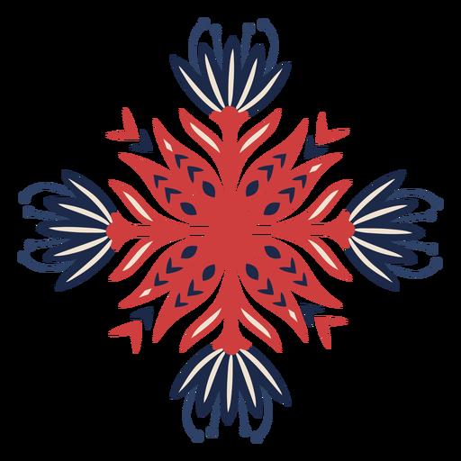 Elemento de patrón de flor decorativa popular