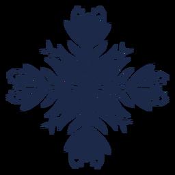 Flor decorativa patrón popular silueta