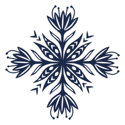 Silhueta de folk padrão decorativo flor